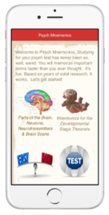 Psych Mnemonics App iPhone